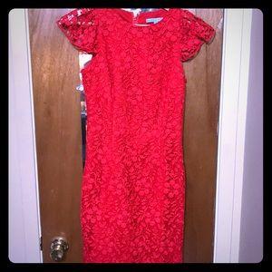 Antonio Melani red lace cocktail dress